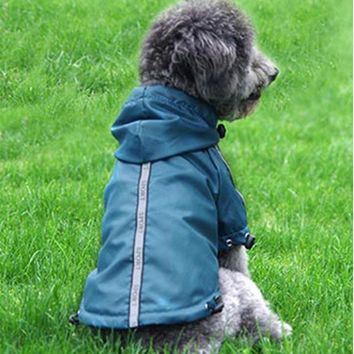 Waterproof Raincoat Warm Dogs Jacket