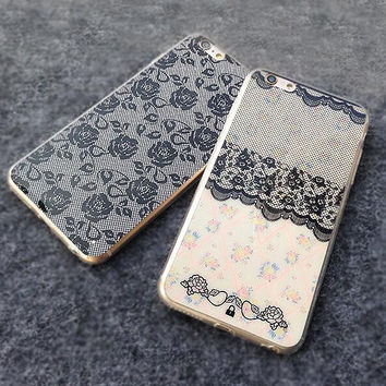 Lace pattern mobile phone case for iphone 5 5s SE 6 6s 6plus 6s plus + Nice gift box!