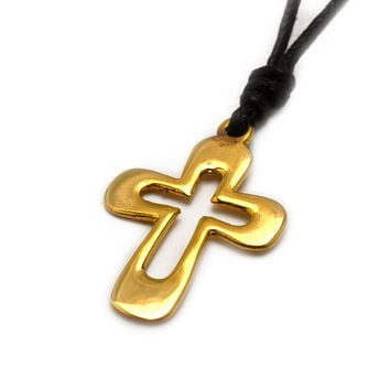 Cross Jesus Christian Handmade Brass Necklace Pendant Jewelry