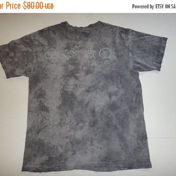 New Year Sale Vintage Led Zepplin 1984 T Shirt Acid Wash Rock tees mosquitohead Jimmy page Robert plant Heavy Metal