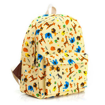 On Sale Casual College Comfort Back To School Hot Deal Stylish Korean Lovely Canvas Backpack [8097649287]