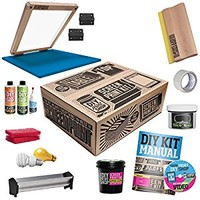 DIY PRINT SHOP Classic Table Top Screen Printing Kit
