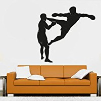 Wall Decal Vinyl Sticker Decals Art Decor Design kickboxing boxing Traning Workout extreme sports Mans Boys Bedroom Dorm Office Gym (r1042)