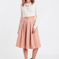 Crazy About You Faux Leather Skirt