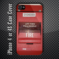 Vintage EST Fire Alarm Custom iPhone 4 or 4S Case Cover