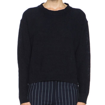 Acne Studios Bird Black/ Navy Linen Sweater