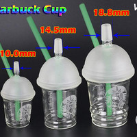 10mm 14.5mm 18.8mm Water Pipes Starbucks Cup Glass Bongs Dab Rigs and Oil Rigs Glass Bongs Hookah Shisha