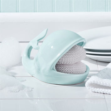 Willy The Whale Kitchen Sponge Holder with 2 Scrubbies