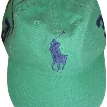 Men's Polo by Ralph Lauren Hat Ball Cap Field Green with Big Navy Pony