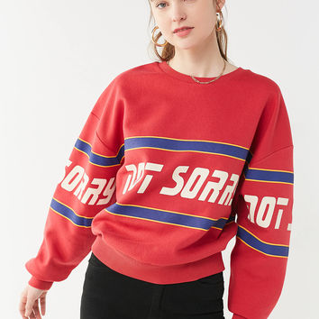 Not Sorry Crew-Neck Sweatshirt | Urban Outfitters