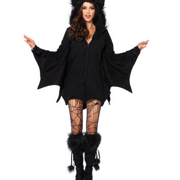 Bat Hooded Adult Womens Dress – Spirit Halloween