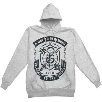 A Day To Remember Men's  Snake Pit Hooded Sweatshirt Grey