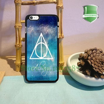 Harry Potter Deathly Hallows Always original black cell phone cases for iphone 6 6 plus 6s 6splus 5 5s 5c 4 4s W-3800