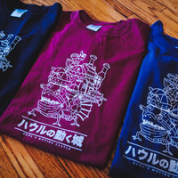 Howl's Moving Castle Inspired Screenprinted T-Shirt