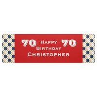 70th Birthday Party Baseball Banner, Adult Banner