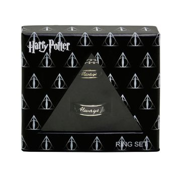 Licensed cool Harry Potter Always Hers Size 7 His Size 10 Boxed Ring Necklace Gift Set 2017