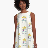 'Yellow Flower' A-Line Dress by mirimo