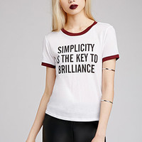 Simplicity Is Brilliance Tee