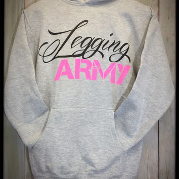 Legging Army Official Sweatshirt- Gray