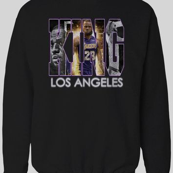 KING OF LOS ANGELES LEBRON JAMES BASKETBALL WINTER SWEATER