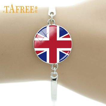 TAFREE The Flag Bracelet Britain,Bengal,Italy,Germany,Bulgaria,Monaco,Afghanistan Flags Of All Countries Chain Bracelet  FG19