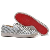 Christian Louboutin Women Men Fashion Casual Sneakers Sport Shoes