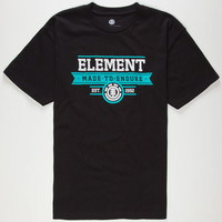 Element Made Mens T-Shirt Black  In Sizes