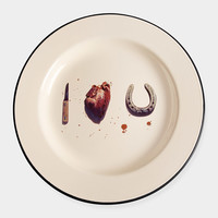 Maurizio Cattelan and Pierpaolo Ferrari: I Love You Plate