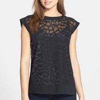 Women's Vince Camuto Giraffe Burnout Shell with Camisole,