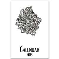 2013 Calendar - Printable PDF - 4x6 inches