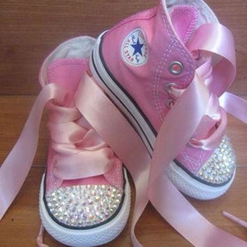 DCK7YE High top converse bling toddler/infant shoes