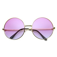 Women's Retro Hippie Oversize Round Sunglasses With Colorized Gradient lenses 9578