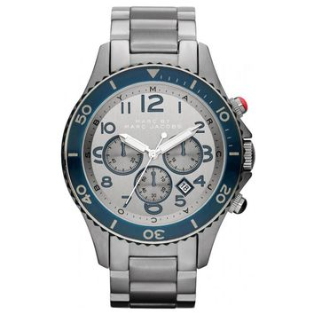 Marc by Marc Jacobs MBM5028 Men's Rock Chrono Stainless Steel Silver Dial Watch