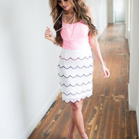 Scalloped Lace Tiered Skirt