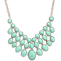 Statement Bib Necklace Fashion Triple Layers Candy Color Jewelry