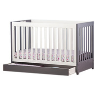 Milano - 5 in 1 Convertible Crib - Grey and white