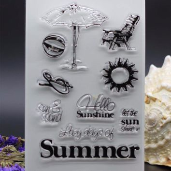 CLEAR STAMPS summer holiday DIY Scrapbook Card album paper craft  silicon rubber roller transparent stamp bird 18x15CM