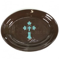 12 x 16 Serving Plate - Cross