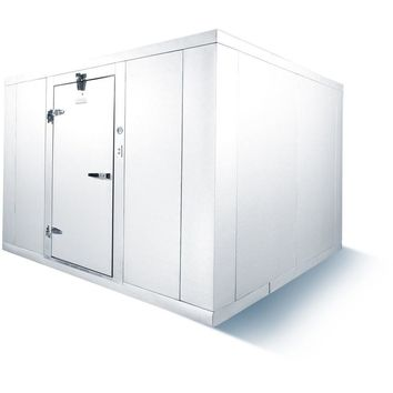 Commercial Kitchen Walk-In Box Cooler 8' x 10' with Floor & Outdoor Refrigeration