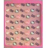Hello Kitty Nail Art Stickers-Hearts and Bows(2pk)