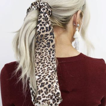 Wanted You Leopard Scrunchie Hair Scarf