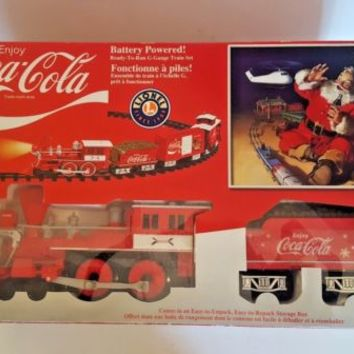 LIONEL Coca-Cola G-Gauge Battery Operated Train Set Remote Control 7-11488 COKE