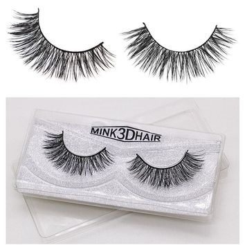 Mink Eyelashes 3D Mink Lashes Thick HandMade Full Strip Lashes Cruelty Free Korean Mink Lashes 5 Style False Eyelashes xF01