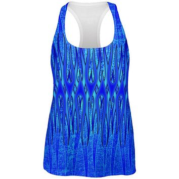 The Eternal Blue Flame All Over Womens Work Out Tank Top