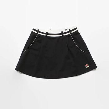 Vintage 80s FILA Tennis Skirt / 1980s Black & White Micro Mini XS