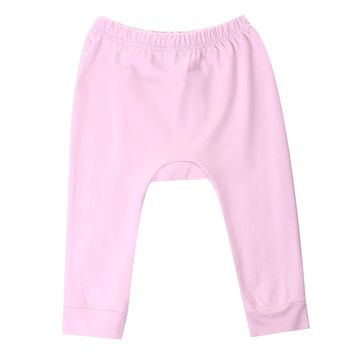 One Piece Kids Baby Boys Girls Cute Infant Baby Heart Printed Cotton Drawstring Harem Pants Trousers Bottoms