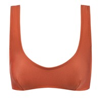Alaia Sporty Scoop Neck Bikini Top - Dusk