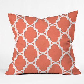 Rebecca Allen Pillow Talk Coral Throw Pillow