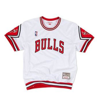 ONETOW Mitchell & Ness Chicago Bulls Authentic Shooting Shirt in White