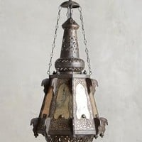 Bashira Lantern, Teardrop by Anthropologie in Neutral Size: One Size Lighting